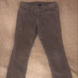 Girls Gap Size 6 Brown Sparkle Soft Cords